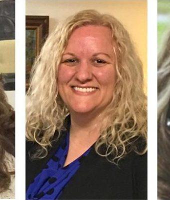 Lefto to right: Regina Brosenitsch, Wendy Moore, and Karen Beilstein